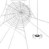 Spin en het Web van Halloween de leuke royalty-vrije illustratie