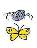 Spin en vlinder Royalty-vrije Stock Foto's