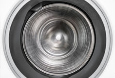 Spin motion of internal view of a washing machine during wash Stock Photos