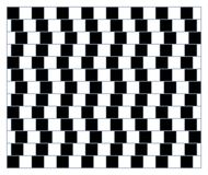 Spin, motion and optical illusion. Vector illustration of impossible shapes. Visual deception - modern optical illusion. Funny and impossible shapes riddle Stock Photo