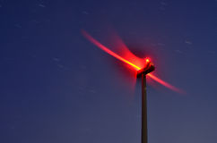 Spin motion of wind turbine Stock Images