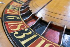 Spin wheel place your bets gaming numbers royalty free stock photos
