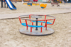 Spin wheel. At a play ground stock image