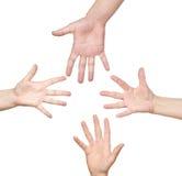 spinać ręki Zdjęcia Royalty Free
