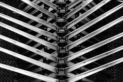 Spina dorsale astratta del metallo Fotografie Stock