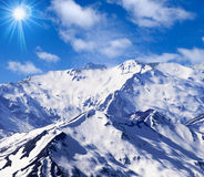 Spina dorsale della montagna fotografia stock