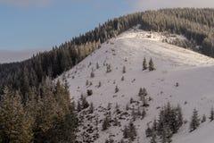 Spina dorsale della montagna di Snowy Fotografia Stock
