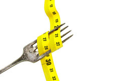 Spina e centimetro giallo Immagini Stock Libere da Diritti