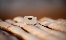 Spina elettrica del perno di USB due - fotografia di riserva Fotografia Stock