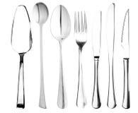 Spina, il cucchiaio, knifes Immagini Stock