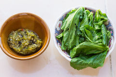 Spinach. The national dish of Thailand Stock Photography