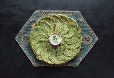 Spinach Adai - Indian green pancakes. Ramadan food royalty free stock photography