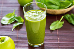 Spinach and apple smoothie Stock Photos