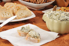 Spinach artichoke dip Stock Photos
