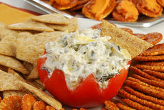 Spinach Artichoke Parmasan Dip Stock Images