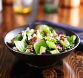 Spinach and avocado chopped salad in bowl Stock Photo