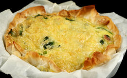 Spinach And Bacon Quiche 2 Stock Images