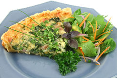 Spinach And Bacon Quiche Royalty Free Stock Images