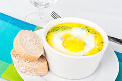 Spinach baked egg Royalty Free Stock Photo
