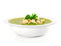 Spinach and Basil Soup Stock Images