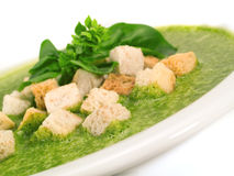 Spinach and Basil Soup Royalty Free Stock Image