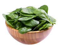 Spinach in bowl Royalty Free Stock Photos