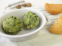 Spinach bread dumplings Stock Photos