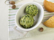 Spinach bread dumplings Royalty Free Stock Photography
