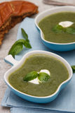 Spinach and broccoli soup Royalty Free Stock Image
