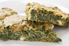 Spinach cake Stock Photography