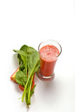 Spinach with carrot juice Royalty Free Stock Photos