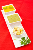 Spinach and carrots puree Stock Photo