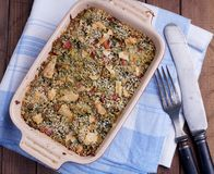 Spinach casserole Royalty Free Stock Images