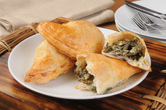 Spinach and cheese empanadas Royalty Free Stock Photos