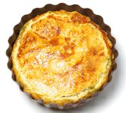 Spinach and cheese pie. On the white background Stock Photography
