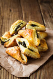 Spinach and cheese puff pastries Royalty Free Stock Photo