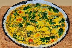Spinach and Cheese Quiche Royalty Free Stock Photo
