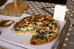 A Spinach and Cheese Quiche Royalty Free Stock Images