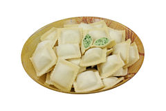Spinach and Cheese Ravioli Frozen Royalty Free Stock Photos