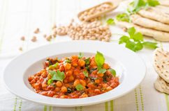 Spinach chickpea curry Royalty Free Stock Photos