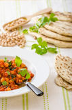Spinach chickpea curry Stock Images
