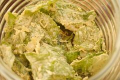 Spinach chip Stock Photo