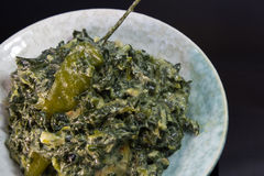 Spinach with coconut milk Stock Photography