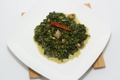 Spinach with coconut milk Royalty Free Stock Image