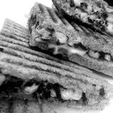 Spinach and corn sandwich Royalty Free Stock Photo