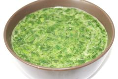 Spinach with cream Royalty Free Stock Images