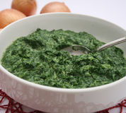 Spinach with cream Royalty Free Stock Photo