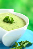 Spinach Cream Soup Royalty Free Stock Photography