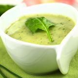 Spinach Cream Soup Royalty Free Stock Photos