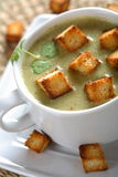 Spinach cream with toast Royalty Free Stock Images